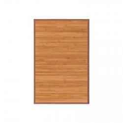 Alfombra pasillera oriental marrón de bambú de 60 x 90 cm Sol Naciente