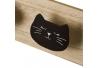 Perchero infantil gatitos de madera moderno para dormitorio.