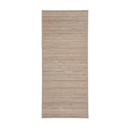 Alfombra pie de Cama Efecto Lavado de bambú Natural exótica, de 75x150 cm