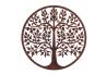 Mural árbol de la vida exótico en óxido marrón, de metal, de Ø 60 cm