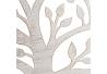 Mural árbol de la vida exótico en óxido beige, de metal, de Ø 60 cm