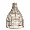 Lámpara de Techo de bambu natural 47,50x47,50x62 cm