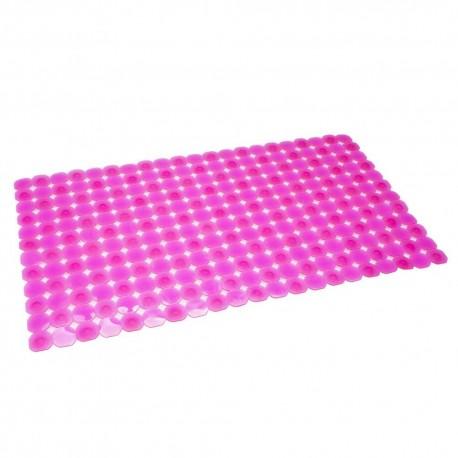 Alfombra de ducha romántica rosa antideslizante para baño 38 x 68,50 cm