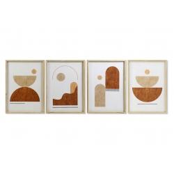 Conjunto de cuadros lienzo abstracto nórdicos madera cristal
