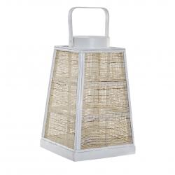 Farol portavela de bambu cuerda clásicos para decoración