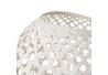 Lámpara de mesa de rejilla shabby chic de bambú y metal blanca, de ø 20x23 cm