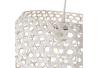 Lámpara de techo de rejilla shabby chic de bambú y metal blanca, de ø 35x24 cm