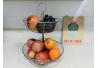 Frutero de sobremesa metálico con dos pisos