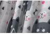 Cortina de baño moderno gatos gris 180x200 cm