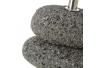 Lámpara de mesita de noche de piedras exótica de cerámica gris de 24 cm