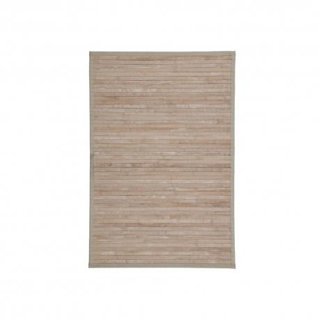 Alfombra pasillera efecto lavado de bambú natural exótica, de 60x90 cm