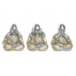 Set 3 figurita buda de suerte decoracion (ver , oir , callar )