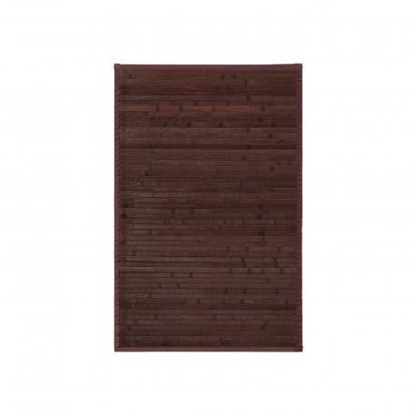Alfombra pasillera de bambú marrón industrial de 90x60 cm