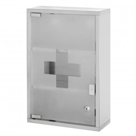 Armario botiquin metal con puerta cristal