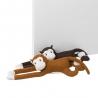 Juego de 2 sujetapuertas mono de tela / arena de 70 cm