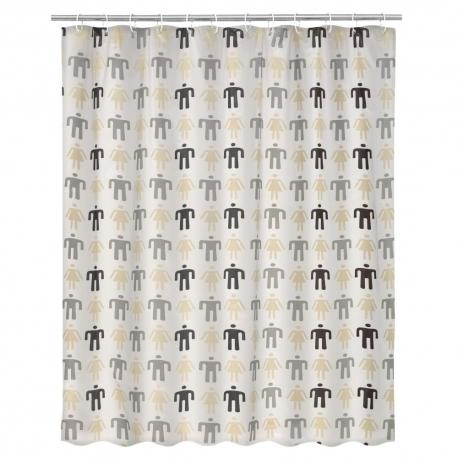 Cortina de baño People de PVC, de 180x200 cm