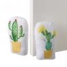 Set 2 Sujetapuertas de tela arena cactus amarillo
