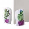 Set 2 Sujetapuertas de tela arena cactus lila