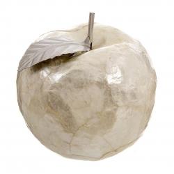 Figura manzana color beige de nacar