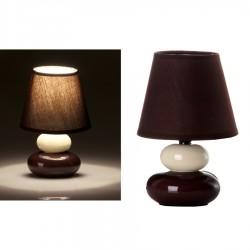 Lámpara para mesita de noche moderna marrón de cerámica para dormitorio Bretaña