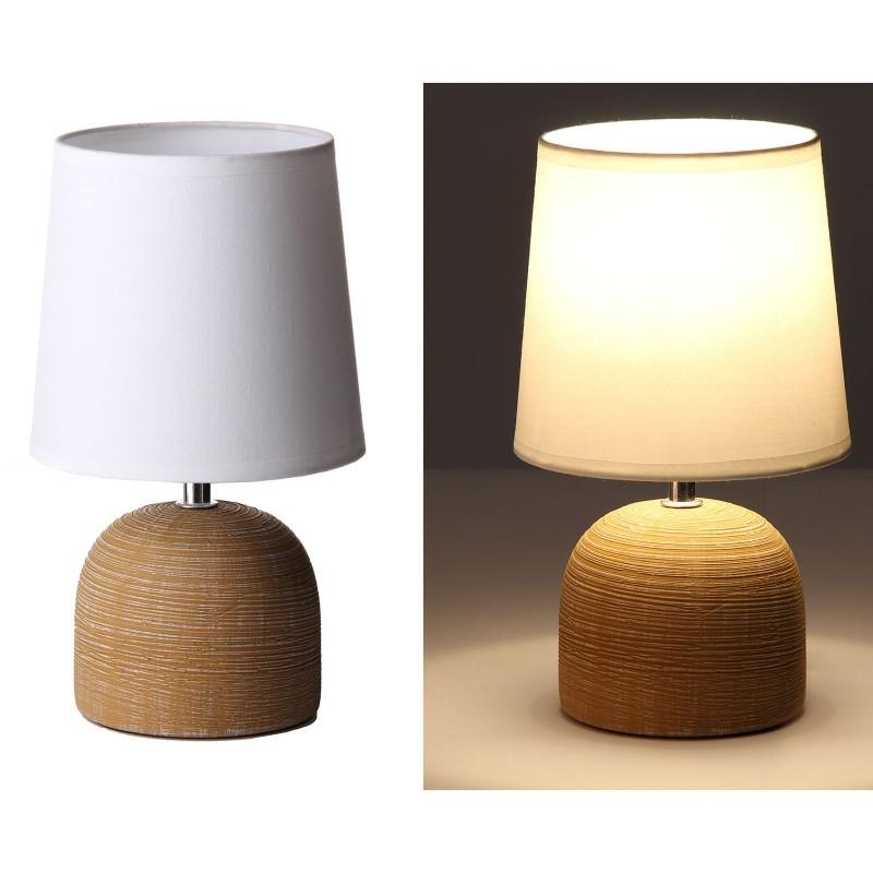 L mpara de mesa moderna marr n cer mica 16 x 16 x 27 50 cm for Lamparas de ceramica