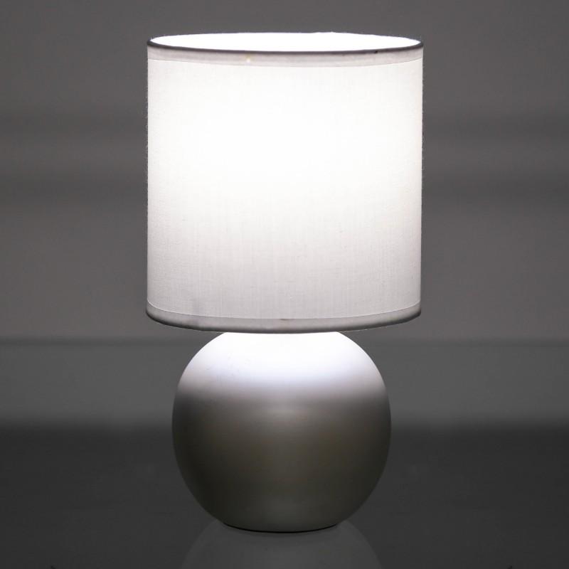 L mpara para mesita de noche moderna cobre de cer mica - Lamparas modernas para dormitorio ...