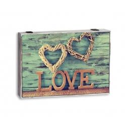 Tapa de contador LOVE corazon verde