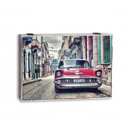 Tapa de contador CUBA coche rojo