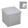 Puff pongotodo plegable cuadrado gris 38 cm