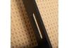 Pack 2 Bandejas de madera negro y rattan natural