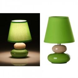 Lámpara para mesita de noche pop verde de cerámica para dormitorio Arco Iris