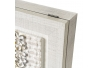 Cuadro cubrecontador con relieve shabby chic de lienzo blanco, de 50x35 cm