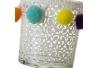Juegos de 2 portavela de cristal blanco para decoración
