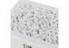Joyero con espejo de madera blanco de 10x15x19 cm