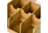 Caja de infusiones de bambú marrón con 6 compartimentos nórdica de 10x21x21 cm