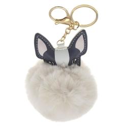 llavero perro beige 9 cm