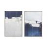 Set 2 cuadro lienzo PS abstracto 62x4x93 cm