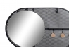 Set 2 Perchero pared metal con espejo negro blanco factory 3 corgadores