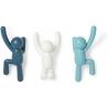 Soporte 3 ganchos de pared multi-color azul buddy para colgar abrigos, bufandas