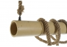 Lámpara de techo original bambu decorado cuerda para 2 bombillas