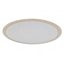 Plato gres mate blanco 27x27x2 cm