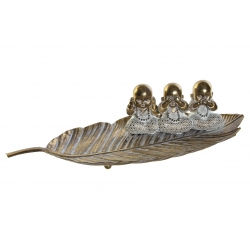 Bandeja vaciabolsillos con figura de buda (ver , oir , callar ) 45x22x11 cm