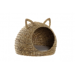 Cama de mascota junco cojin poliester natural marron