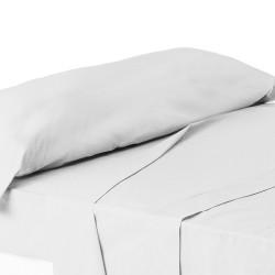 Juego de sábanas de cama 90 clásico blanco de algodón / poliéster Basic