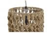 Lámpara de techo fibra natural 21x21x129 cm