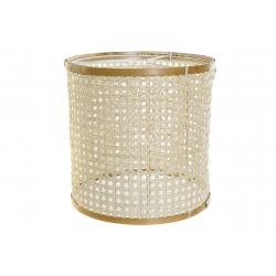 Pantalla bambu para lampara de techo 30x30x30 cm