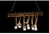 Lámpara de techo original bambu decorado cuerda para 6 bombillas