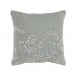 Cojín de algodon flor bordsado 50x50 cm
