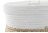 Set 2 cesta algodon y fibra con tapa