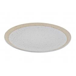 Plato gres mate blanco 21x21x2 cm